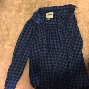 Blue checkered Button down